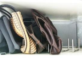 bags on metel rack