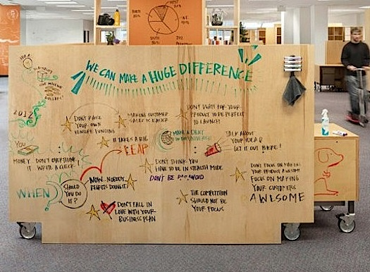 make any surface into a whiteboard