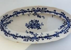 flowered platter