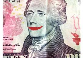 Hamilton $10 smiling