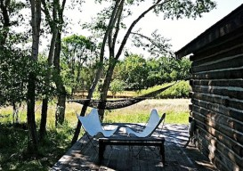 Laura Handler's Montana cabin: deck