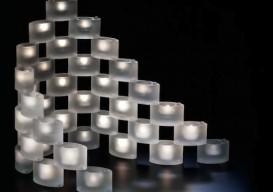 Laura Handler's stacking votives