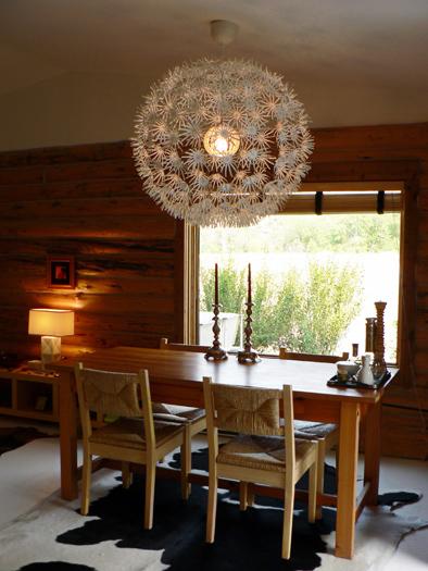 Laura Handler's Montana cabin dining room