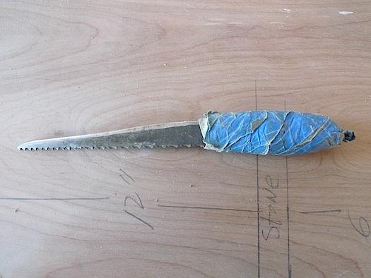 The Improvised Life   a carpenter's makeshift knife