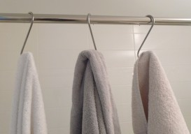 pot hooks as towel hooks 'the improvised life'