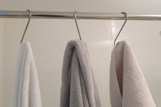 pot hooks as towel hooks 'the improvised life'
