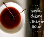 Sally Schneider's cherry vinegar