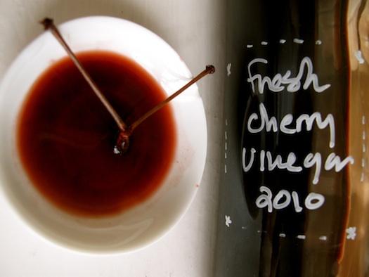 Sally Schneider's cherry vinegar