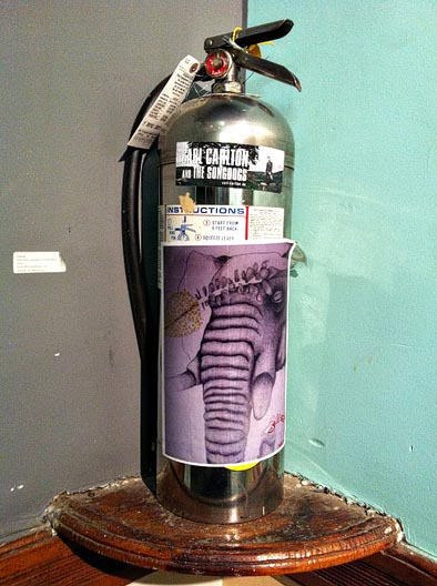 chelsea hotel graffiti fire extinguisher