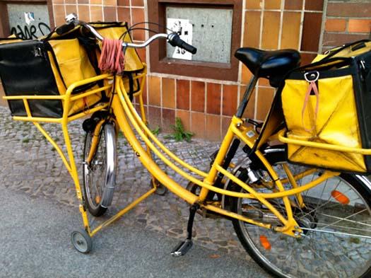 The mailman's fahrrad.