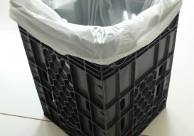 garbage can made from water bottle crate