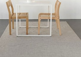 Chilewich floor mat w table