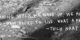 Thich Nhat Hanh via Keri Smith