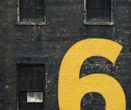 Painted house number