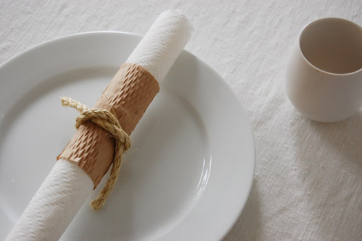 paper towel made into a chic napkin