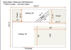 Tracy Metro Houseboat Bedroom plan