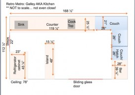 Tracy Metro's Houseboat Galley plan