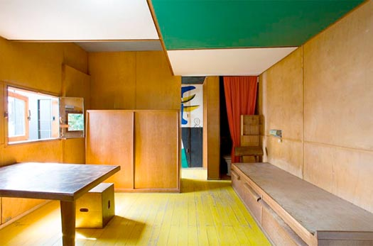 Architect Le Corbusier's Le Cabanon in Roquebrune-Cap-Martin, France