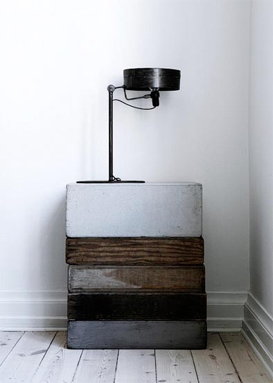 chic stacked vintage crates