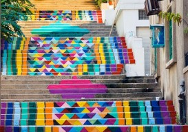 street art on the steps of beirut by dihzahyners