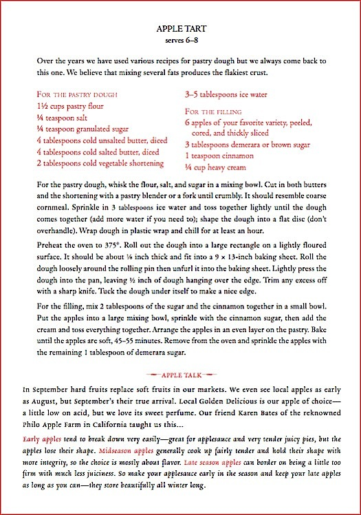 Apple Tart recipe from Canal House Cooks Every Day