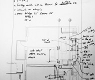 Emily Johnson's notation on The Improvised Life's Laboratory plans