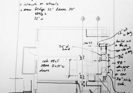 Emily Johnson's notation on The Improvised Life's Laboratory plans