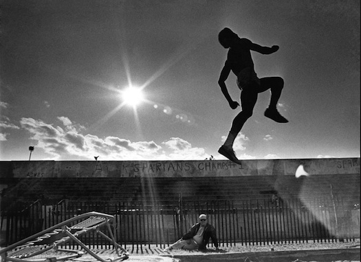 track star Norman Tate practicing in Van Cortlandt Park 1970