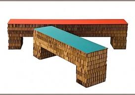 cardboard bench diy street 180 gray bord