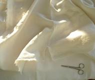 oversized ripped linen napkin