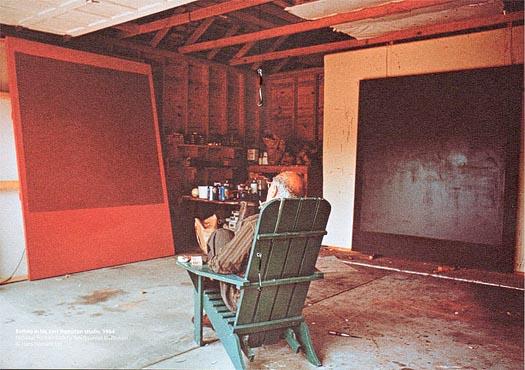 Mark Rothko's studio in East Hampton, New York