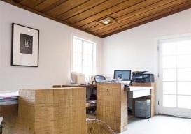 Rustic furniture at Arborica, the lumber yard of arborist Evan Shively