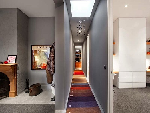 striped wall-to-wall-carpeting