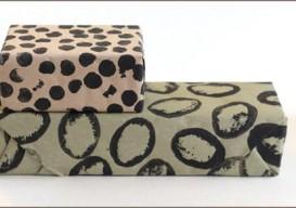 Potato Stamp Gift Wrap spots