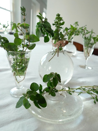 herb bouquet tabletop decoration