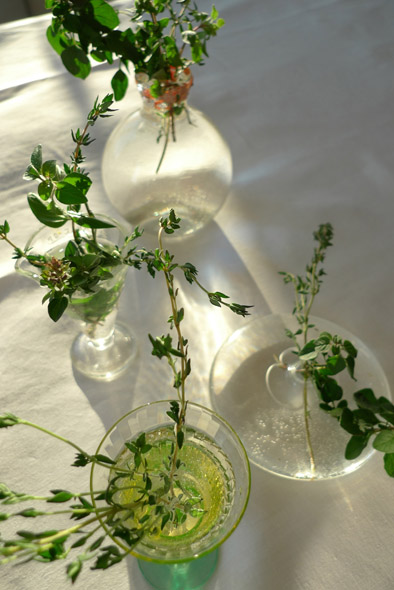 herb bouquet tabletop decoration