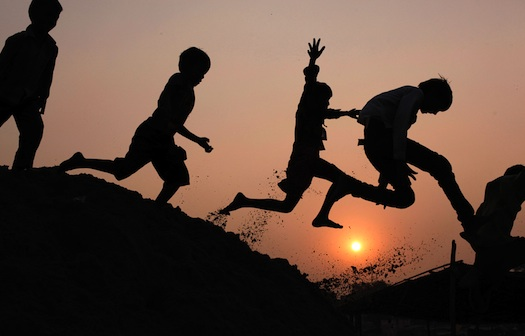 Indian children play on the banks of the River Ganges in Allahabad, India, on Nov. 17. (Rajesh Kumar Singh/Associated Press) #