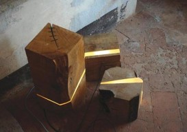 Marco Stefanneli's log lamps