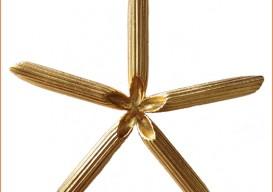Orange Howell's macaroni ornament and jewelry