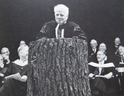 Robert Frost at Tree Lecturn