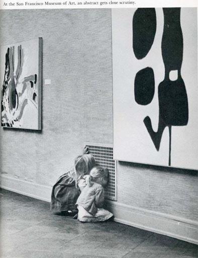 kids at SFMA looking beyond the art