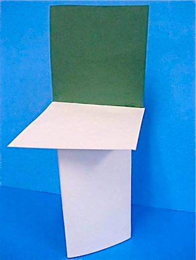 construction paper chairs designed by kids
