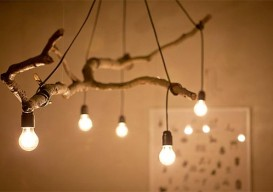 tree branch chandelier by mode:lina