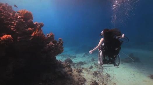Sue Austin Deep sea dive in a wheelchair