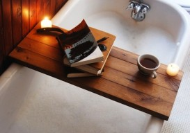 wooden board tub tray 2