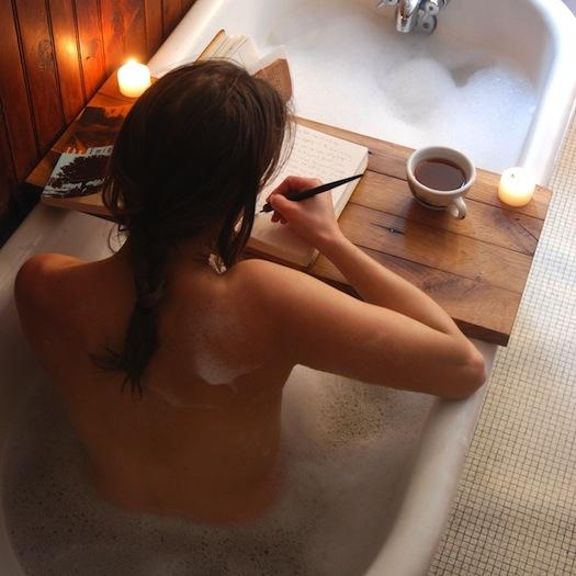 wooden board tub tray