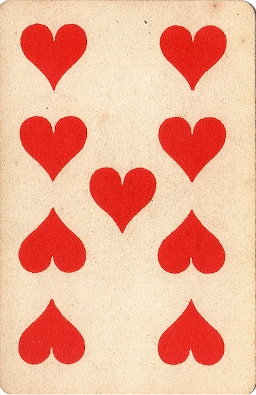 Heart playing card valentine