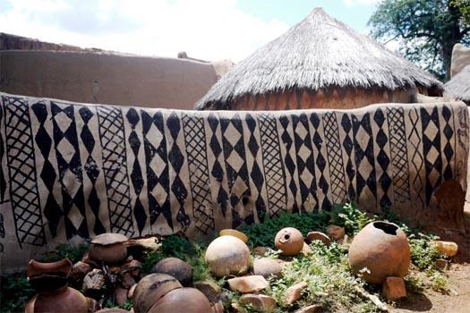 tattooed houses of burkina faso