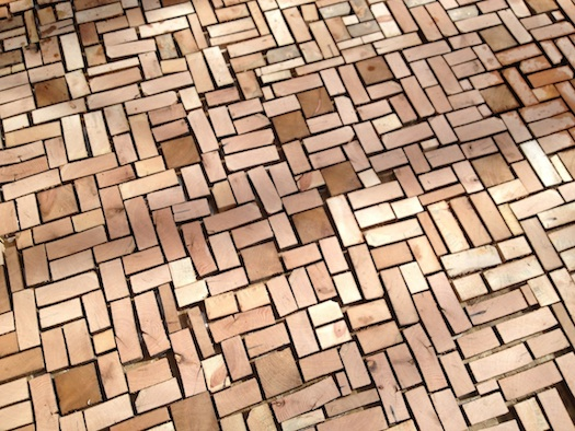 cemented wood brick floor 3