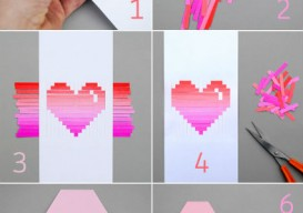 home made valentine's day card how-to